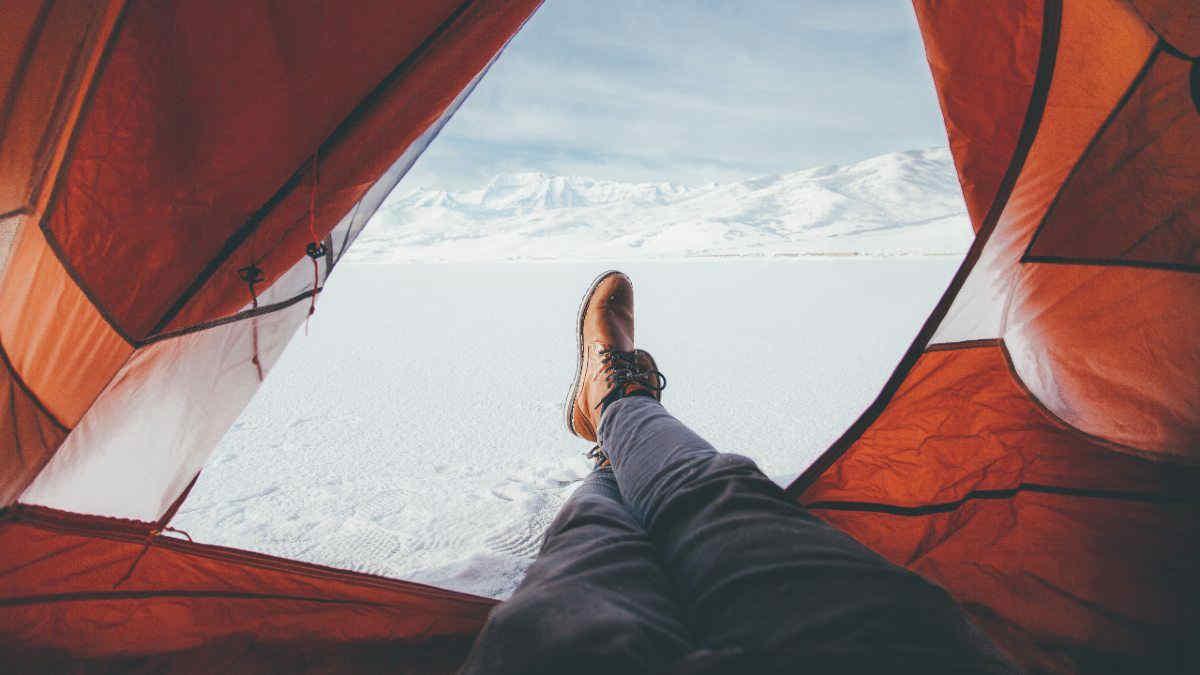 Il campeggio, in inverno
